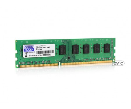 Модуль DDR3 4GB/1333 GOODRAM (GR1333D364L9/4G)