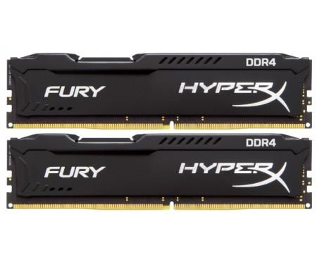 Модуль DDR4 2x4GB/2666 Kingston HyperX FURY Black (HX426C15FBK2/8)