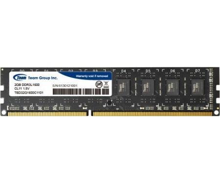 Модуль DDR3 2GB/1600 1,35V Team Elite (TED3L2G1600C1101)