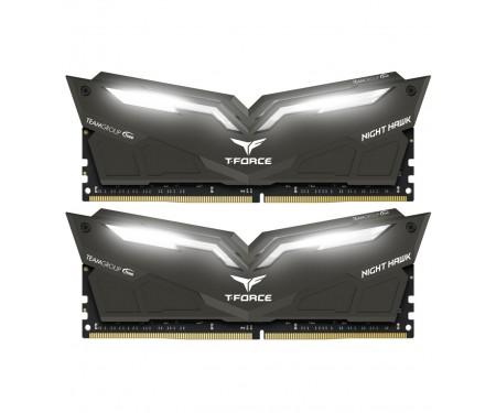 Модуль DDR4 2x8GB/3000 Team T-Force Night Hawk Black LED/White (THWD416G3000HC16CDC01)