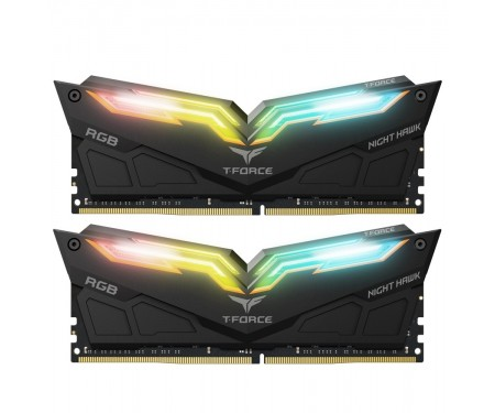 Модуль DDR4 2x8GB/3200 Team T-Force Night Hawk RGB Black (TF1D416G3200HC16CDC01)