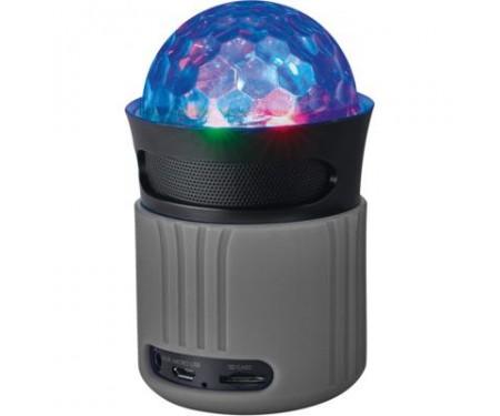 Акустическая система Trust Dixxo Go Wireless Bluetooth Speaker with party lights grey (21345)