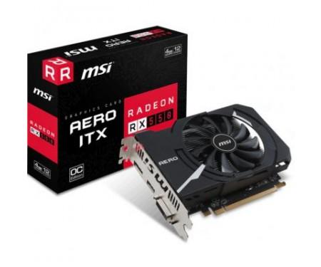 Видеокарта MSI Radeon RX 550 4096Mb AERO ITX OC (RX 550 AERO ITX 4G OC)