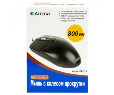 Мышь A4tech OP-720 BLACK-PS