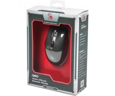 Мышь A4tech Bloody Q80 Neon XGlide USB Black