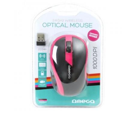 Мышь OMEGA Wireless OM-415 pink/black (OM0415PB)