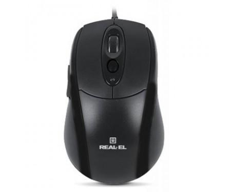 Мышь REAL-EL RM-290, USB, black