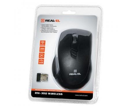 Мышь REAL-EL RM-300 black-grey