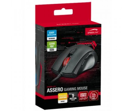 Мышь Speedlink ASSERO Gaming Mouse, black (SL-680007-BK)