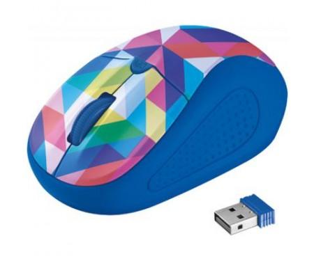 Мышь Trust Primo Wireless Mouse blue geometry (21480)