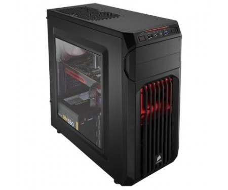 Корпус CORSAIR Carbide Series SPEC-01 RED LED (CC-9011050-WW)