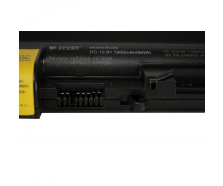 Аккумулятор для ноутбука LENOVO ThinkPad R400 (FRU 42T5264) 10.8V 7800mAh PowerPlant (NB00000240)