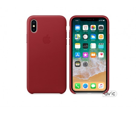 Apple iPhone X Leather Case PRODUCT RED (MQTE2)