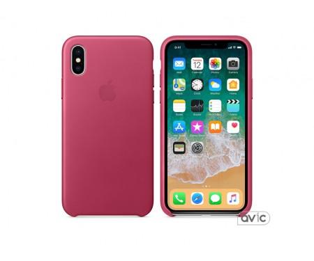 Apple iPhone X Leather Case Pink Fuchsia (MQTJ2)