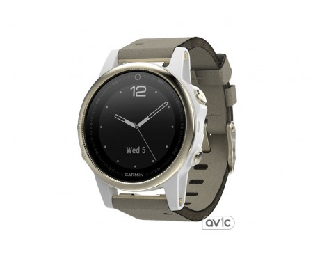 Garmin Fenix 5S Champagne Sapphire with Gray Suede Band (010-01685-12)