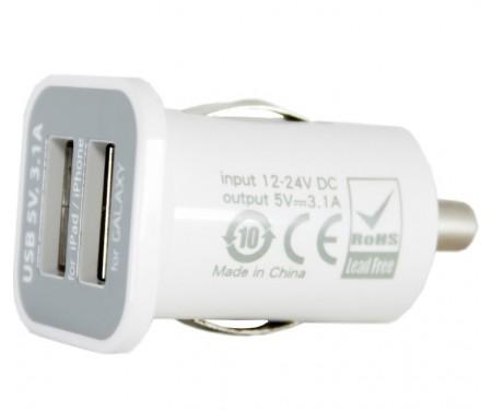 Автомобильное зарядное устройство PowerPlant White (DV00DV5036)