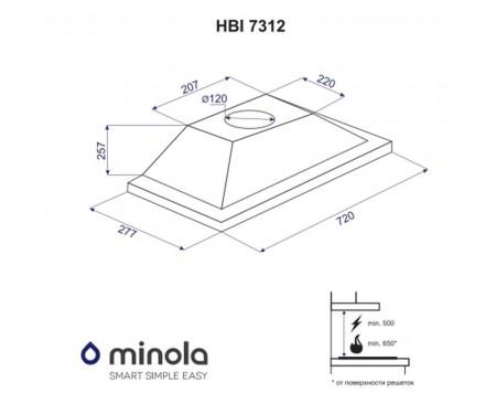 Вытяжка Minola HBI 7312 WH LED 750