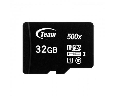 Карта памяти MicroSDHC 32GB UHS-I Class 10 Team Black + SD-adapter (TUSDH32GCL10U03)