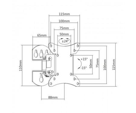 Кронштейн Brateck LCD-501N (VESA100х100)