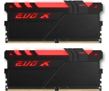 Модуль DDR4 2x8GB/2400 Geil EVO X Black RGB LED (GEXB416GB2400C16DC)
