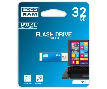 Флешка USB 32GB GOODRAM UCU2 (Cube) Blue (UCU2-0320B0R11)