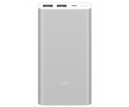 Power Bank Xiaomi Mi 2 QC2.0 10000mAh Silver (PLM09ZM-SL)_