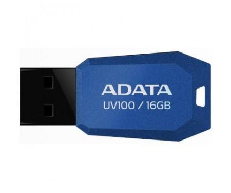 Флешка A-DATA 16Gb UV100 Blue USB 2.0 (AUV100-16G-RBL)