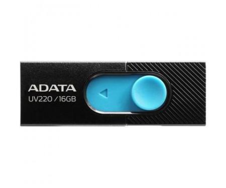 Флешка A-DATA 16GB UV220 Black/Blue USB 2.0 (AUV220-16G-RBKBL)