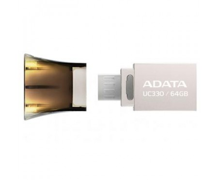 Флешка A-DATA 64GB UC330 Black USB 2.0 OTG (AUC330-64G-RBK)