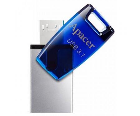 Флешка Apacer 16GB AH179 Blue USB 3.1 OTG (AP16GAH179U-1)