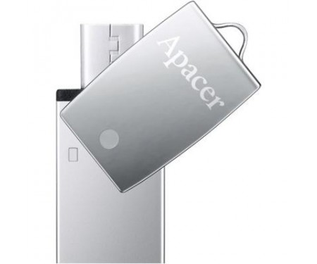 Флешка Apacer 16GB AH730 Silver USB 2.0 OTG (AP16GAH730S-1)