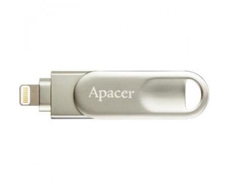 Флешка Apacer 32GB AH790 Silver USB 3.1/Lightning (AP32GAH790S-1)