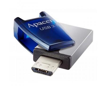 Флешка Apacer 64GB AH179 Blue USB 3.1 OTG (AP64GAH179U-1)