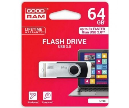 Флешка GOODRAM 64GB Twister Black USB 3.0 (UTS3-0640K0R11)