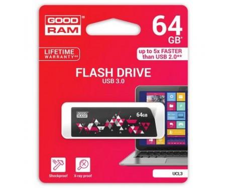 Флешка GOODRAM 64GB UCL3 Click Black USB 3.0 (UCL3-0640K0R11)