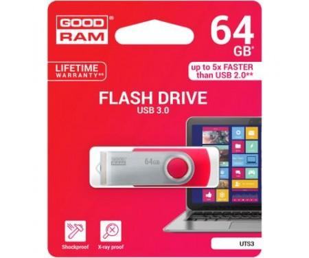 Флешка GOODRAM 64GB UTS3 Twister Red USB 3.0 (UTS3-0640R0R11)