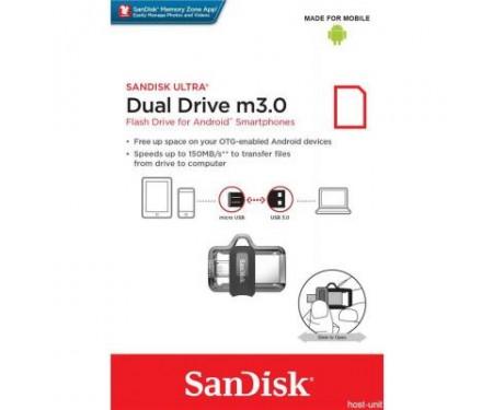 Флешка SANDISK 16GB Ultra Dual Black USB 3.0 OTG (SDDD3-016G-G46)