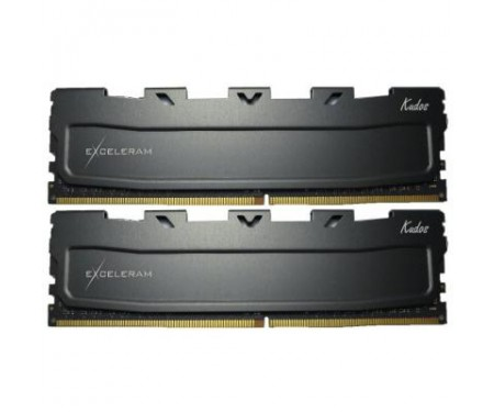 Модуль DDR4 16GB (2x8GB) 2400 MHz Black Kudos eXceleram (EKBLACK4162414AD)