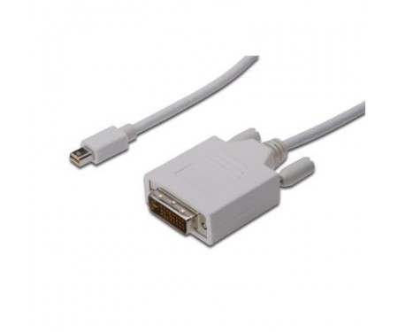 Кабель мультимедийный miniDisplayPort to DVI 24+1 3.0m DIGITUS (AK-340305-030-W)