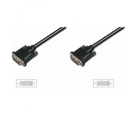 Кабель мультимедийный DVI to DVI 24+1pin, 3.0m ASSMANN (AK-320108-030-S)