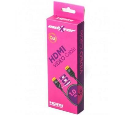 Кабель мультимедийный HDMI to HDMI 1.0m Maxxter (VB-HDMI4-1M)