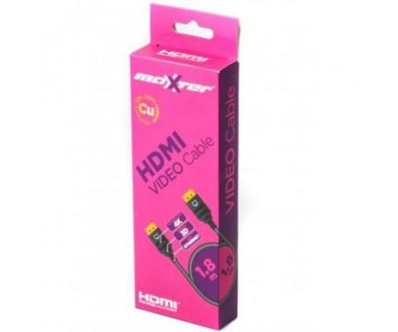 Кабель мультимедийный HDMI to HDMI 1.8m Maxxter (VB-HDMI4-6)