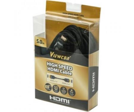 Кабель мультимедийный HDMI to HDMI 5.0m Viewcon (VC-HDMI-165-5m)