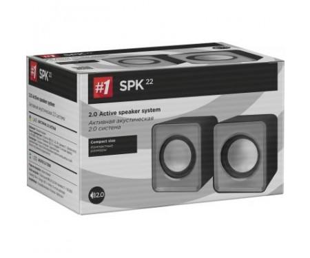 Акустическая система Defender SPK 22 2х2,5W USB grey (65504)