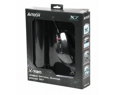 Мышь A4Tech X-710BK Black USB + коврик A4Tech X7-200MP