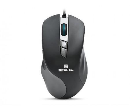 Мышь REAL-EL RM-780 Gaming Black USB UAH