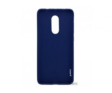 Силиконовый чехол Inavi SIMPLE COLOR Xiaomi Redmi 5 (темно-синий)