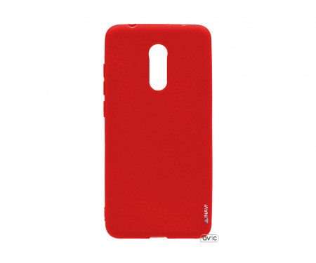 Силиконовый чехол Inavi SIMPLE COLOR Xiaomi Redmi 5 (красный)