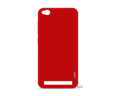 Силиконовый чехол Inavi SIMPLE COLOR Xiaomi Redmi 5A (красный)