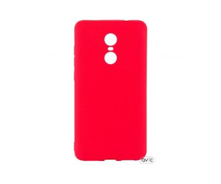 Силиконовый чехол Inavi SIMPLE COLOR Xiaomi Redmi Note 4X (красный)